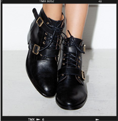 Domino Buckle ankle boot