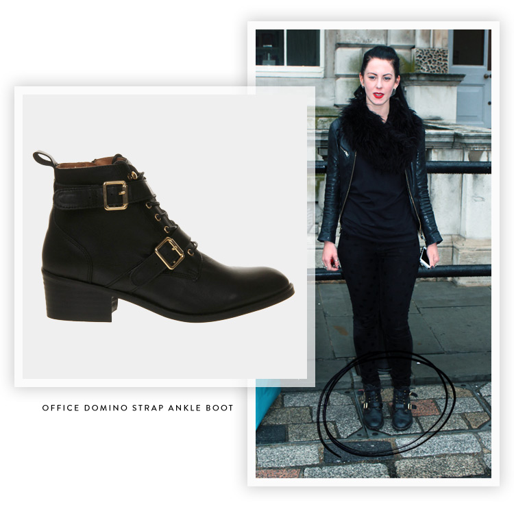 style-hunter-work-domino-strap-ankle-boots