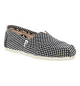 Toms Classic slip on Navy dot