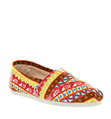 Toms Classic slip on Aztec orange canvas