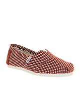 Toms Classic slip on Bordo dot exclusive