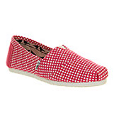 Toms Classic slip on Pink dot exclusive