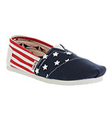 Toms Classic slip on Stars and bars exclusi...