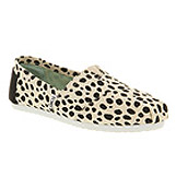 Toms Classic slip on Dalmation print canvas
