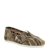 Toms Classic slip on Snake canvas exclusive