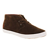 Fred perry Byron mid suede Dark chocolate brown p...