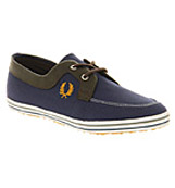 Fred perry Drury twill Navy mustard yellow ch...