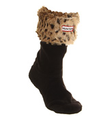 Hunter Short fleece welly socks Black leopard exclusiv...