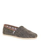 Toms Seasonal classic slip on Chambray trim