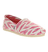Toms Seasonal classic slip on Pink ikat