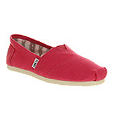 Toms Seasonal classic slip on Earthwise pink