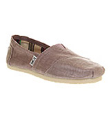 Toms Seasonal classic slip on Orchid pink metallic l...