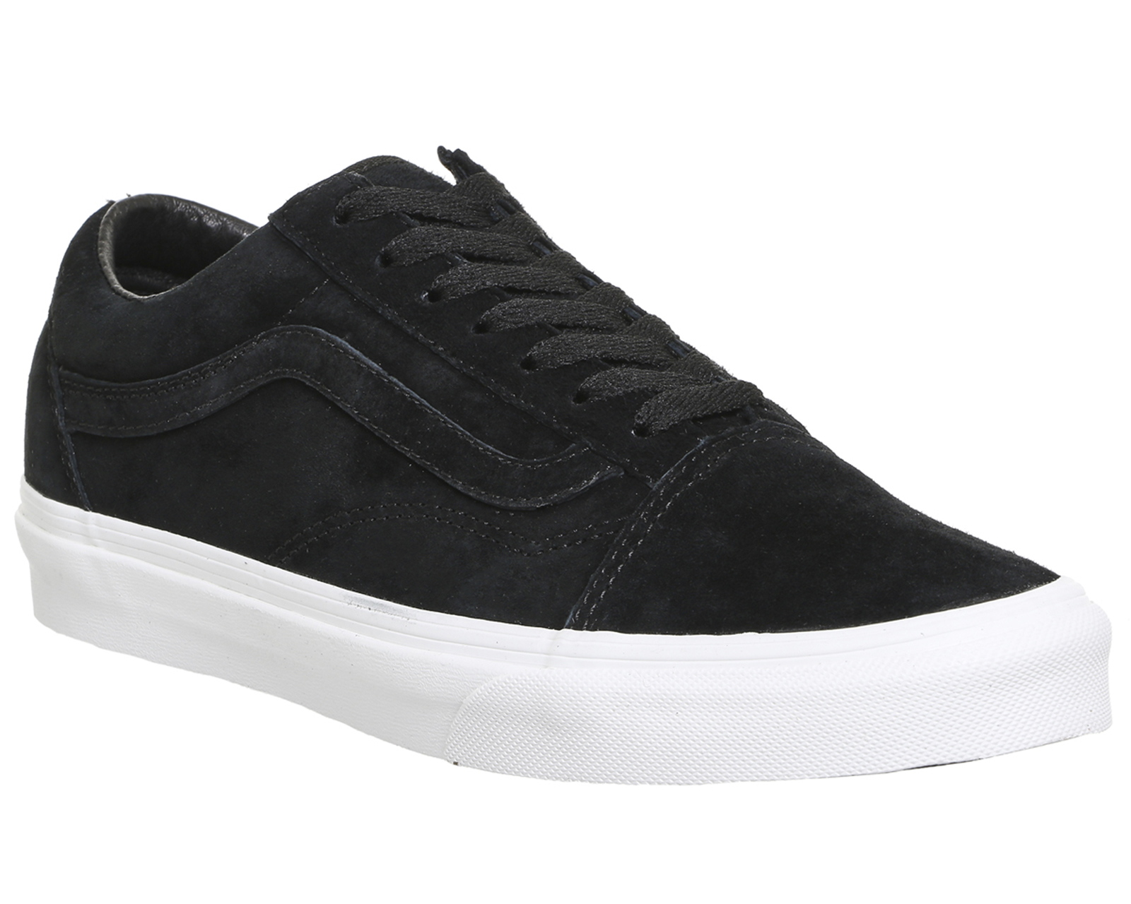 vans black sole true white