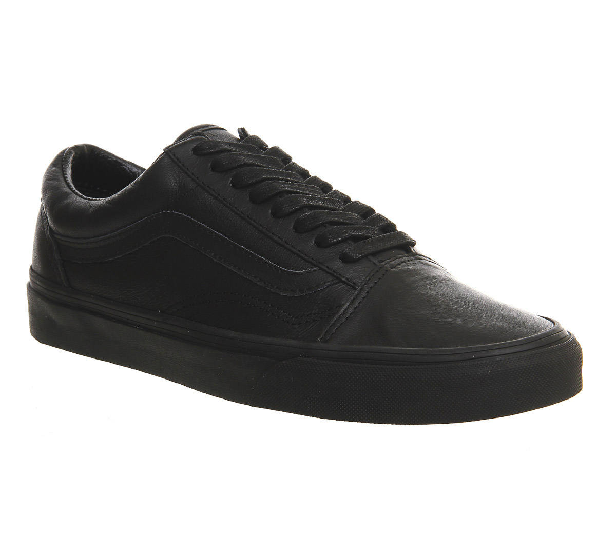 vans old skool black leather