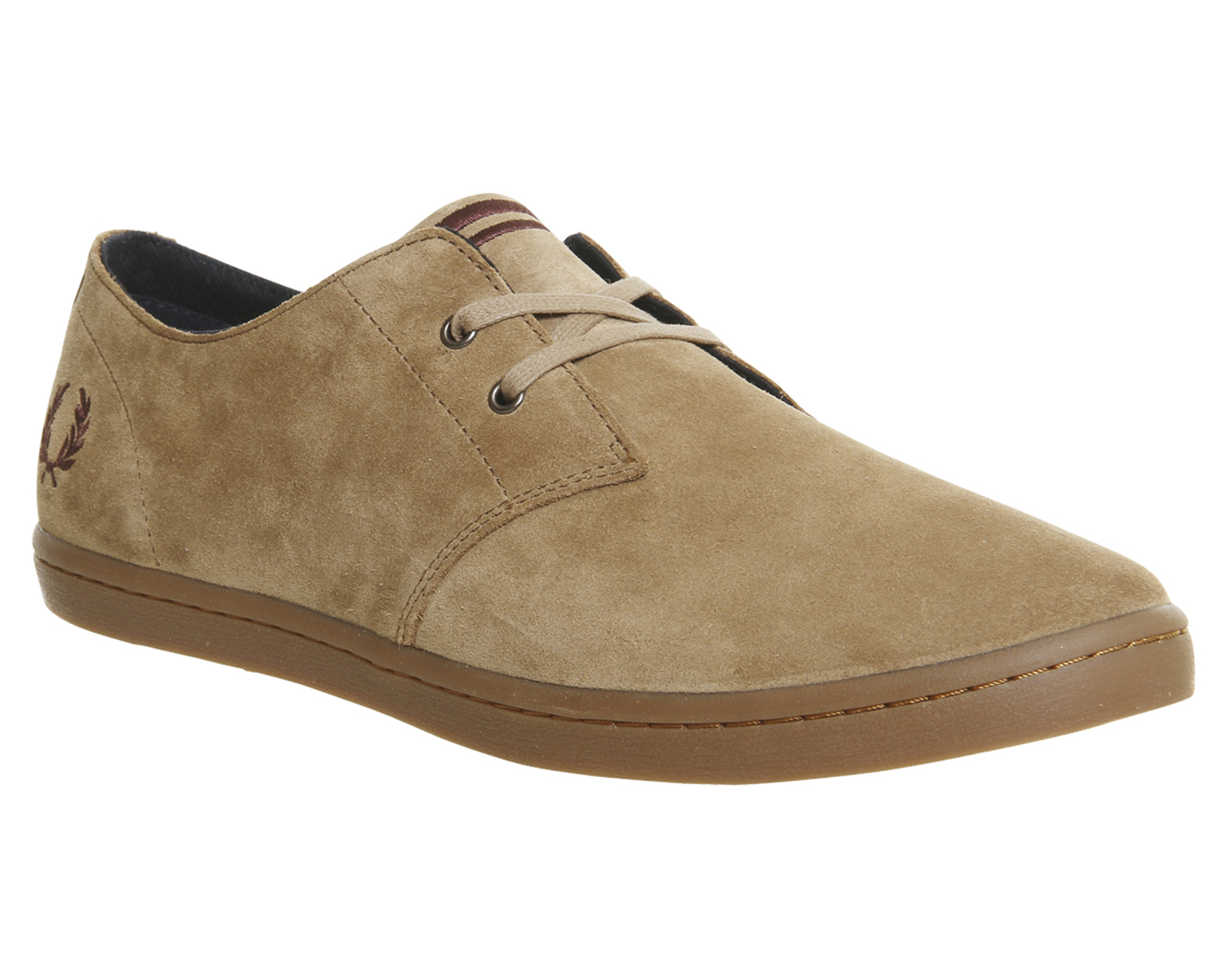 huge inventory footwear best website Fred Perry Byron Low Almond Brown Stone Suede - His trainers